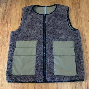 KIT and ACE Army Green Reversible Sherpa Vest